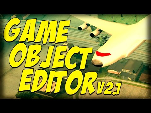 Обзор Модов GTA San Andreas #88 Game Object Editor v2.1!