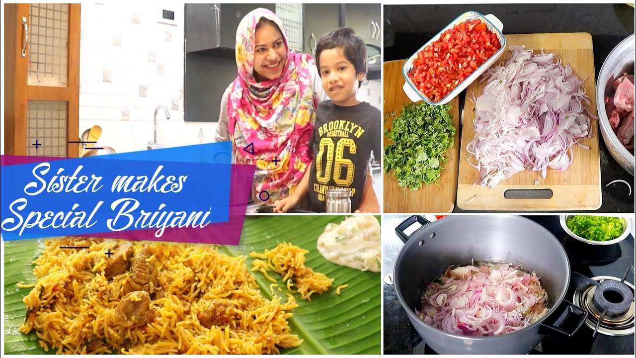 Sister makes her Special Beef Briyani for me / Zulfia's Recipes / tamil vlog