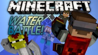 Minecraft Mini Game: Water Battle! w/ Dartron, Excl, & Ross
