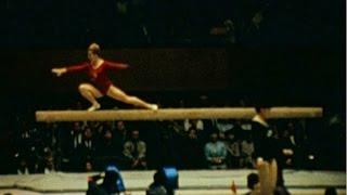 Věra Čáslavská TOKYO 1964 Balance beam  Team (AMATEUR FOOTAGE)