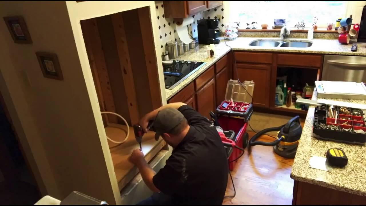 Custom Ge Combo Oven Install Youtube