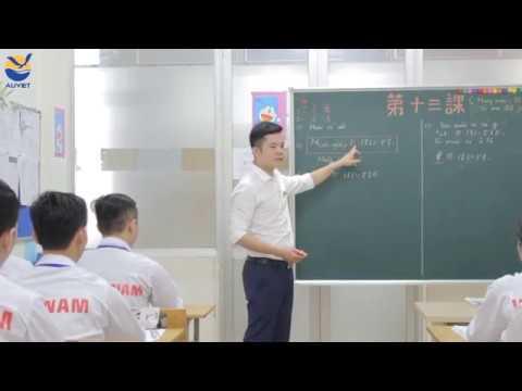 Tiết học tiếng Nhật tại Trung tâm đào tạo Âu Việt
