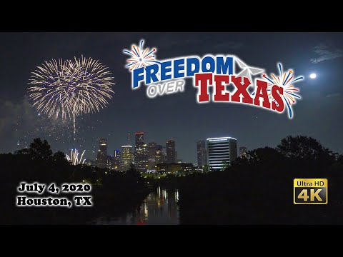 2020 Freedom Over Texas Fourth of July Fireworks in Houston Complete Show Ultra HD 4K