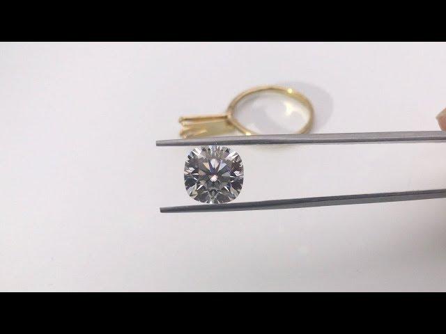 Cushion Cut Moissanite Diamond stone Forever EF White Color 10x10mm 5 Carats Gemstones Wholesale