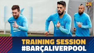 Back to work to prepare the Champions League clash against Liverpool