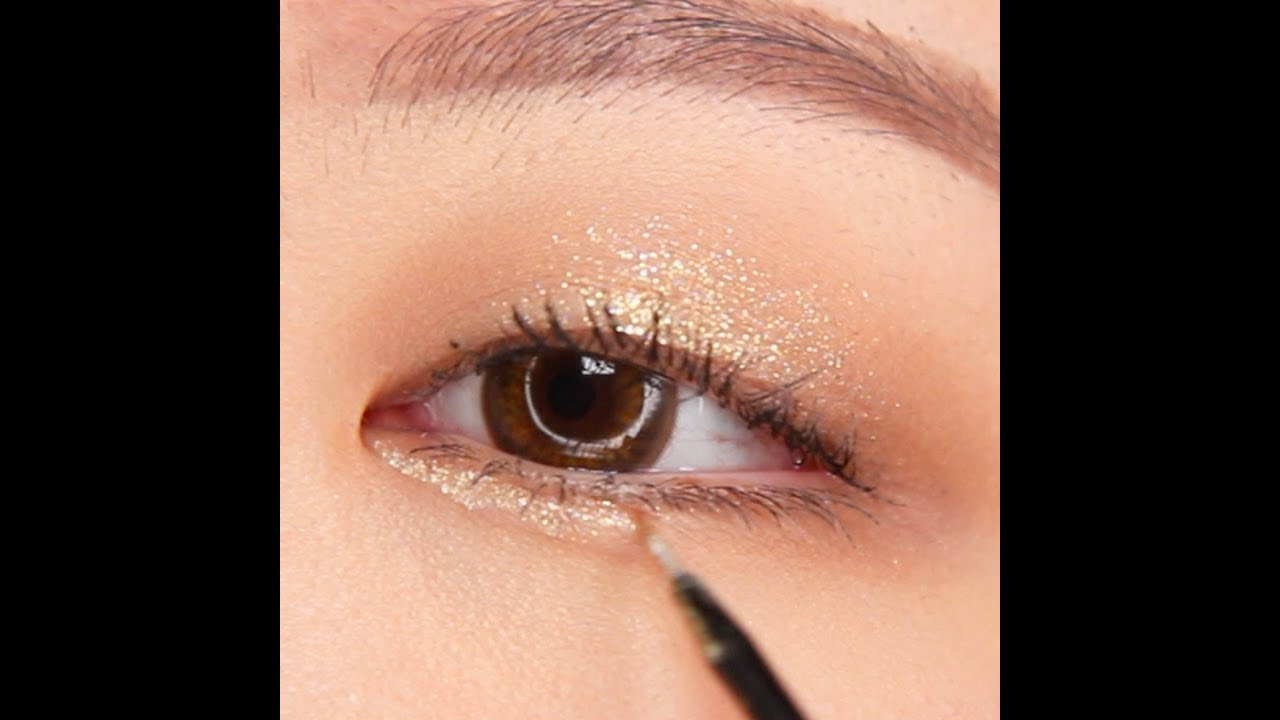 Image result for sparkling glitter eyeshadow korean