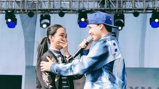 Edward Barber performs at the Lubao International Balloon and Music Fest
