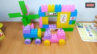 Bộ đồ chơi lắp ráp ngồi nhà và cối xây gió xe đồ chơi 100 mảnh ghép