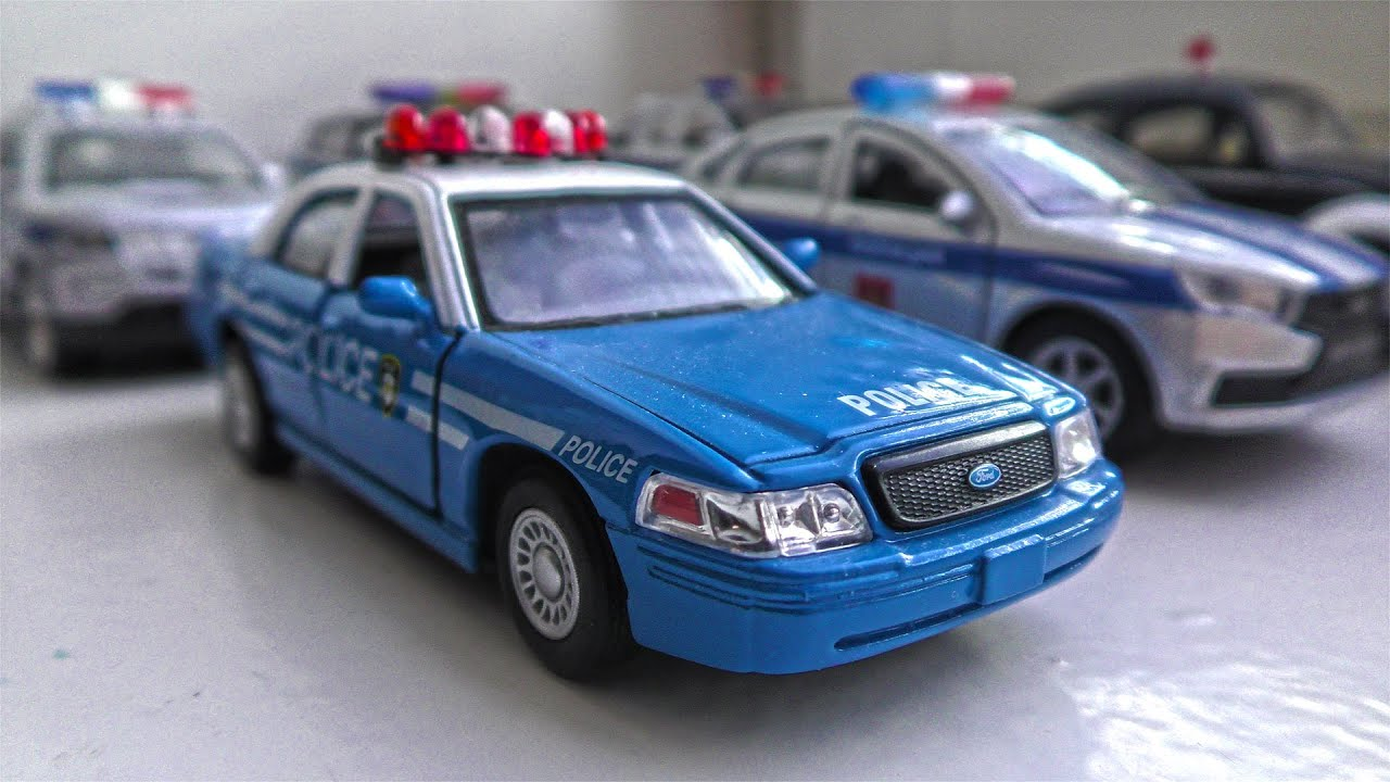 8 Police Cars of Various Brands