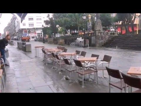 Choiva torrencial en Lalín