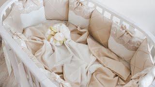 Обзор. Бортики подушки для детской кроватки