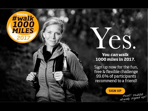 #walk 1000 miles 2017