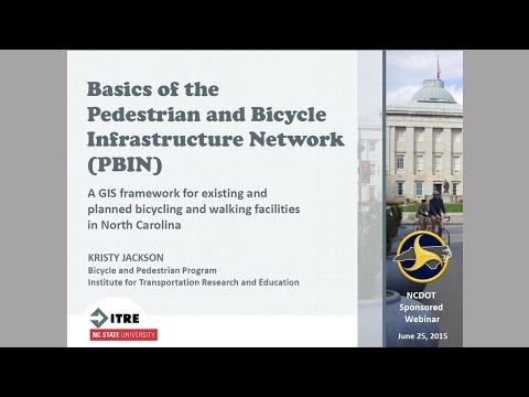 Basics of the Pedestrian and Bicycle Infrastructure Network