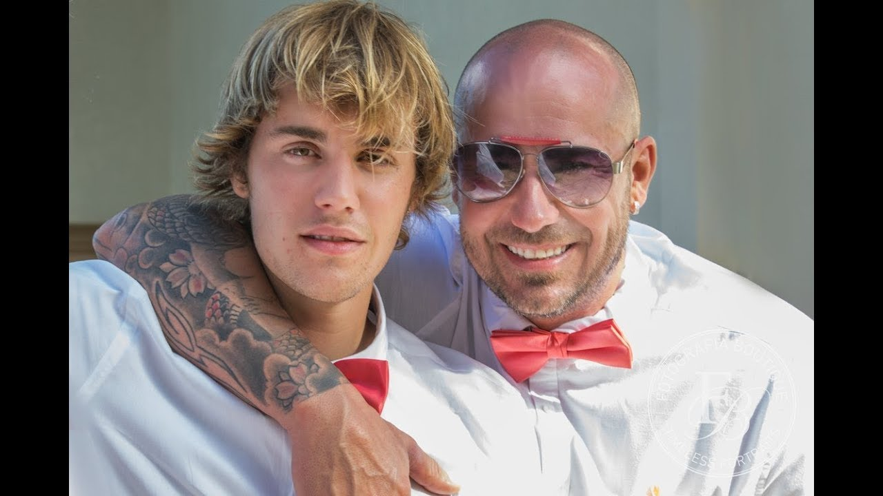 justin bieber at his fathers wedding in jamaica with