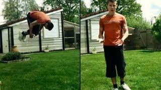 Comment faire un Salto avant au sol / tuto front flip ( français )
