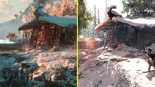 Horizon Zero Dawn E3 2015 Vs Retail PS4  - Landmarks Comparison