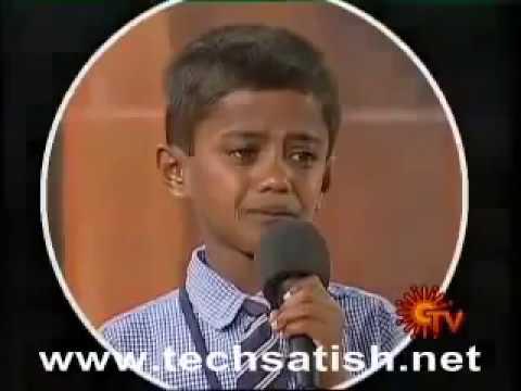 Small boy wonderful speech in TAMIL - Parents always Life Hero's