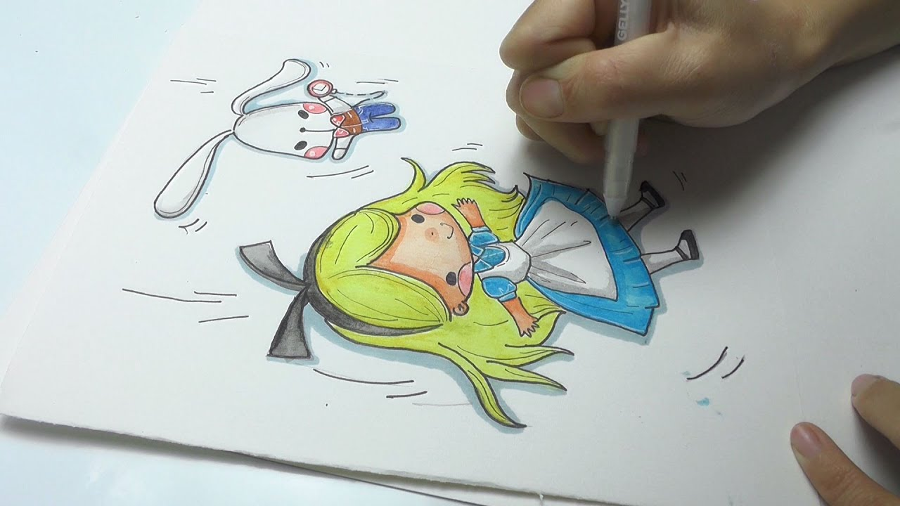 White Rabbit Alice In Wonderland Drawing