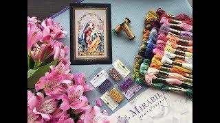 1.Mirabilia - Madonna of the Garden. СП Тайна Мирабилии. Новый процесс. Вышивка крестом.