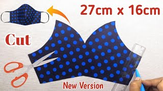 New Version 3 Layers Easy Pattern Mask Face mask sewing tutorial Cómo Hacer Mascarilla Mascara
