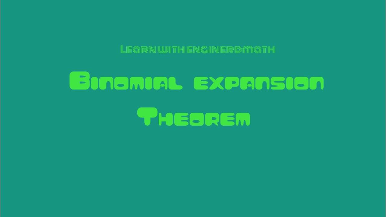 Grade 10 - Binomial Expansion Theorem (Tagalog/Flipino Math)