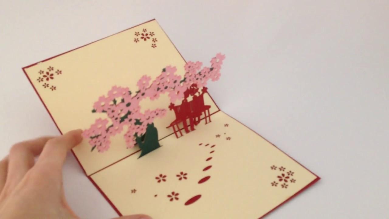 ručně vyrobené přání k narozeninám Přání ručně vyrobené vyřezávané 3D, třešňový strom   YouTube ručně vyrobené přání k narozeninám