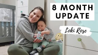 8 MONTH OLD BABY UPDATE | Breastfeeding, Sleeping through the Night & Learning to Walk and Talk