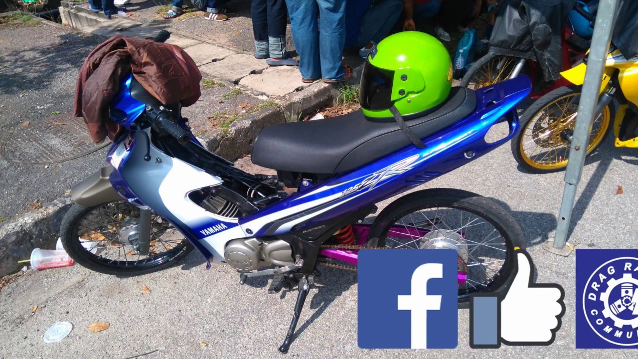 YAMAHA 125zr Line Up Inspection Sprint Test Drag Racing Kubang Menerong Mac 2018