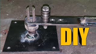 DIYตัวดัดเหล็กใช้เองง่ายๆ EP.2(steel bending equipment)