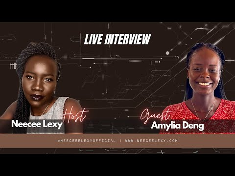 LIVE Interview with South Sudanese Blogger Amylia Deng   Neecee Lexy