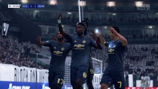 FIFA19 | Manchester United vs Juventus (2-1) | Champions League | Matchday 4