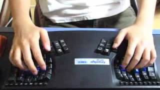 vuclip Touch type of Kinesis Advantage USB contoured keyboard