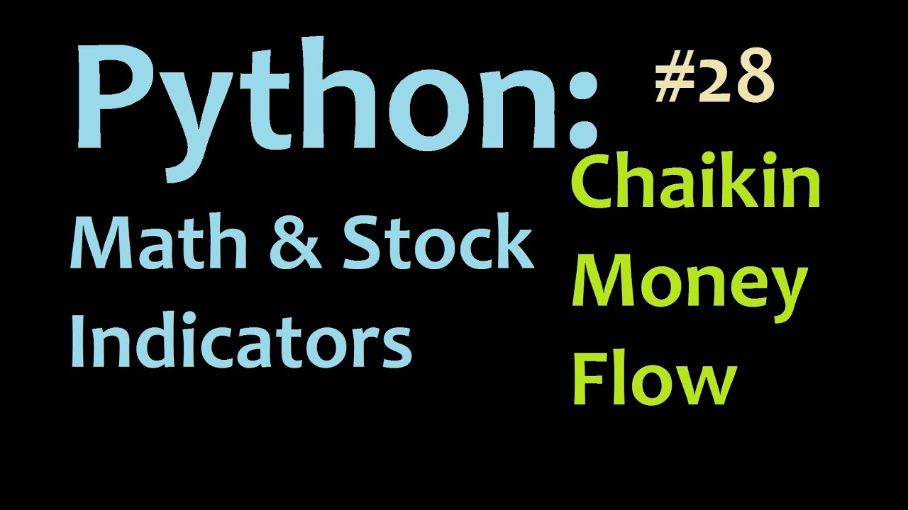 Python Chaikin Money Flow Trading Indicator 1 Youtube