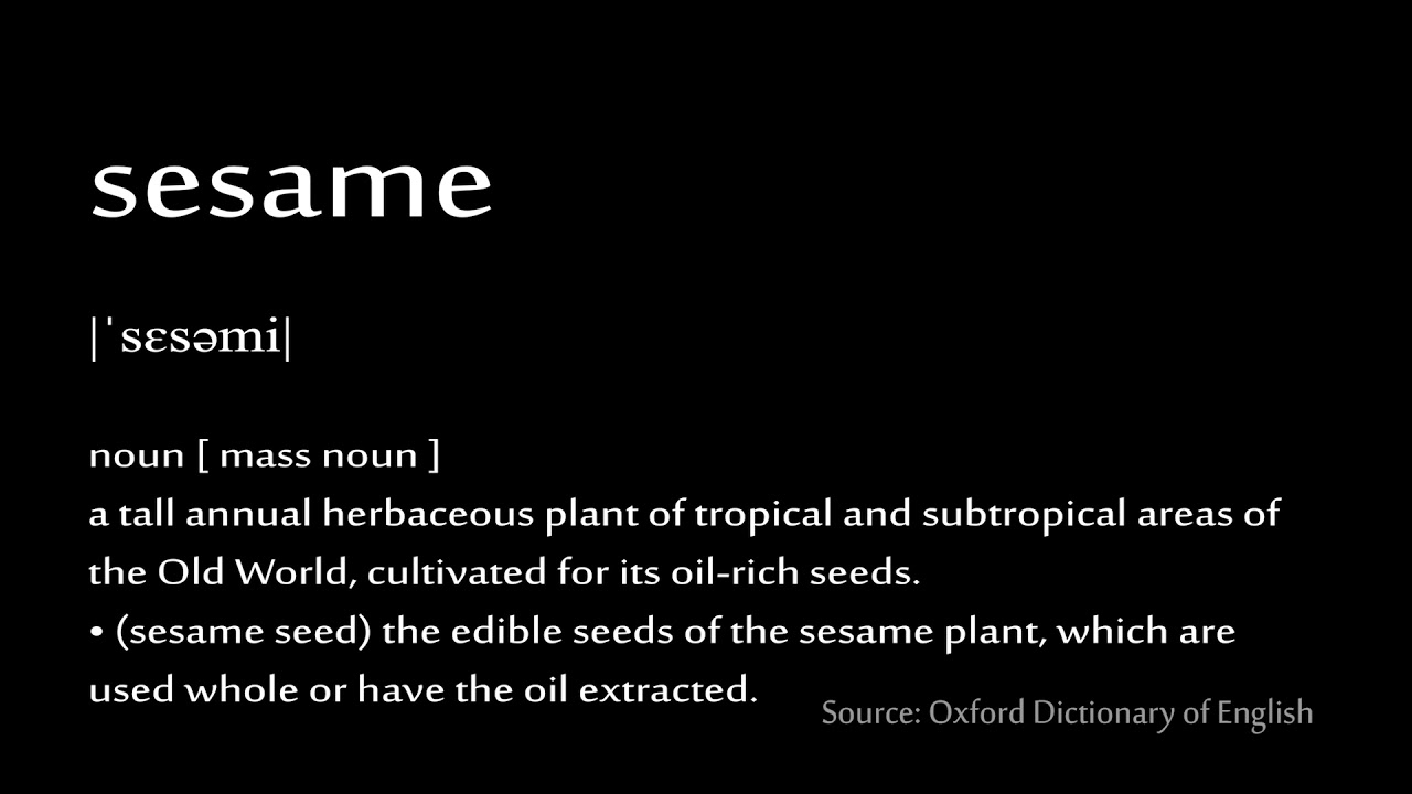 How to pronounce - sesame