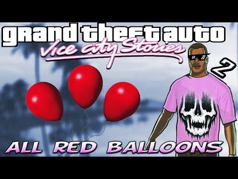 GTA VCS [:2:] ALL Hidden 99 Red Balloon Locations [100% Walkthrough]