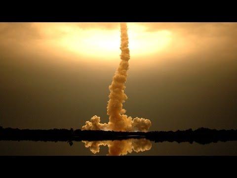 SS-18 Satan nuclear missile launch.