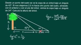 Cálculo de la altura de un objeto a pie inaccesible