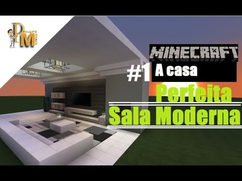 Minecraft 1 a casa perfeita sala moderna 2016 youtube for Casa moderna 2016