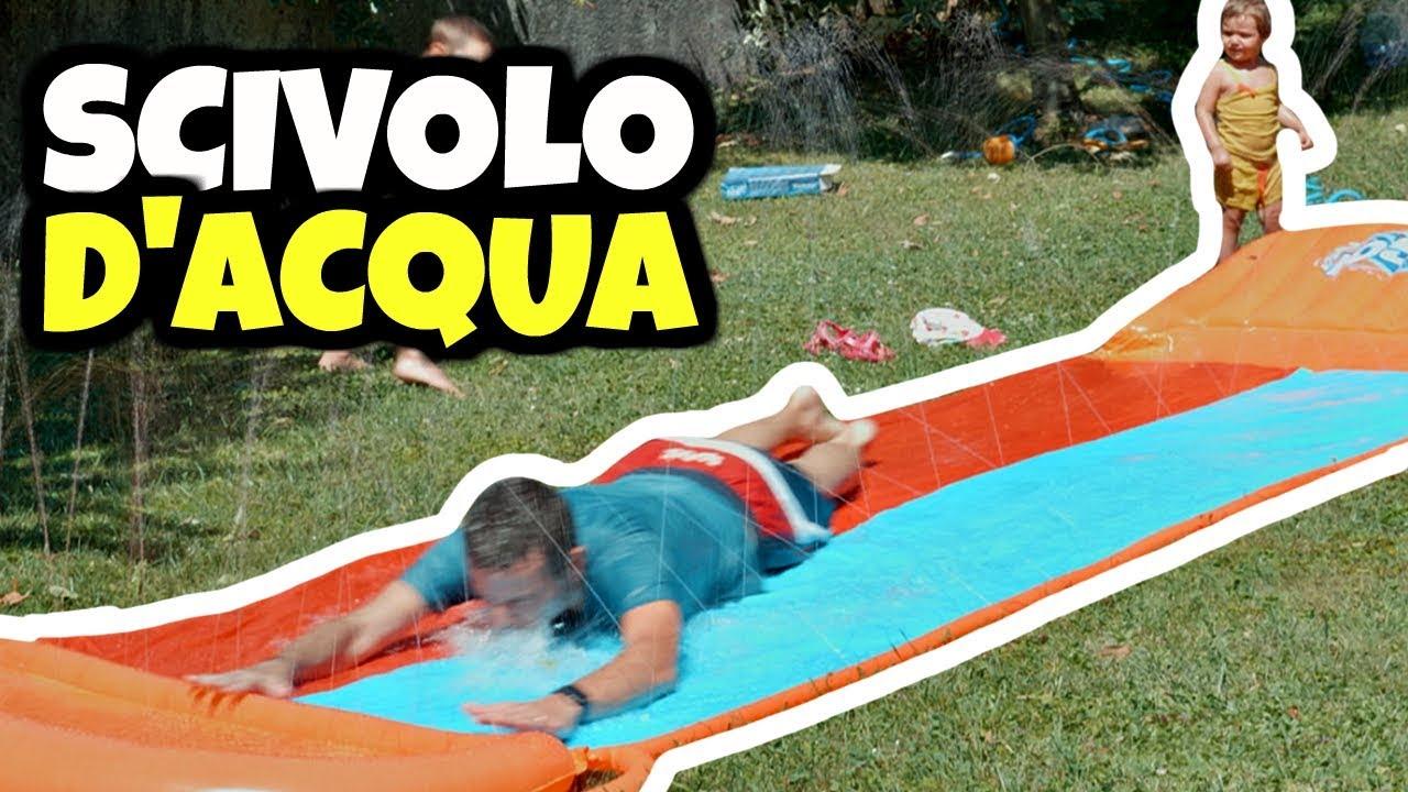 Giochi Da Fare In Giardino scivolo d'acqua in giardino: 5 metri super divertenti