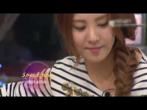 Taylor Swift Moments 110921 - SNSD's Seohyun - Speak Now @ KBS Big Brothers