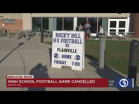 VIDEO: Alleged inappropriate conduct leads to cancellation of Rocky Hill High School football game