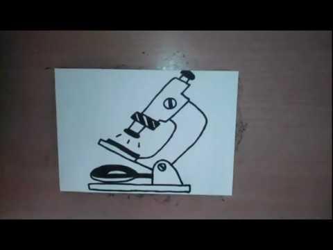 Как нарисовать микроскоп карандашом поэтапно