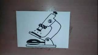 как нарисовать микроскоп - How to draw a microscope -  Как нарисовать милые рисунки