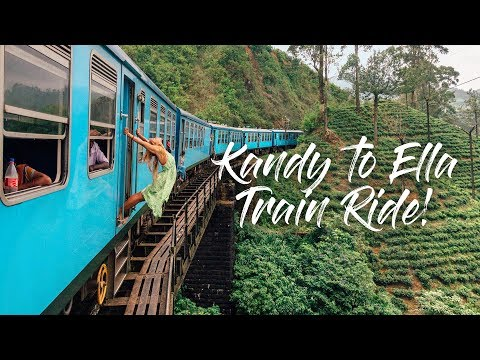 KANDY TO ELLA TRAIN RIDE | BEST IN THE WORLD?! | SRI LANKA VLOG 3/5