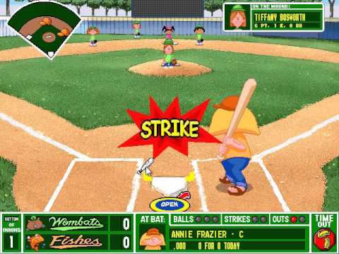 backyard baseball pc gameplay all city playoff game 1 wombats