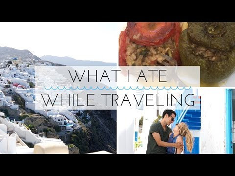 What I Ate While Traveling // VEGAN - Cyprus, Santorni, Mykonos