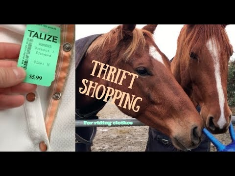 Thrift Shopping For Riding Clothes