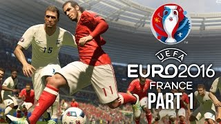 Euro 2016 Gameplay Walkthrough Part 1 - FIRST MATCH (PES 2016 UEFA EURO 2016)