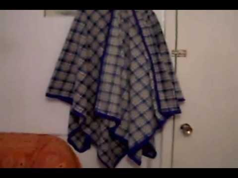 Como hacer un poncho rapido horizontal youtube - Como hacer un estor de tela ...