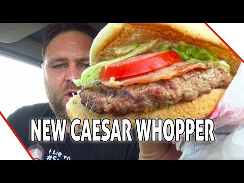 NEW  Hungry Jack's  Whopper Caesar REVIEW 🍔